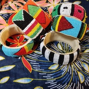 Hand beaded bracelets